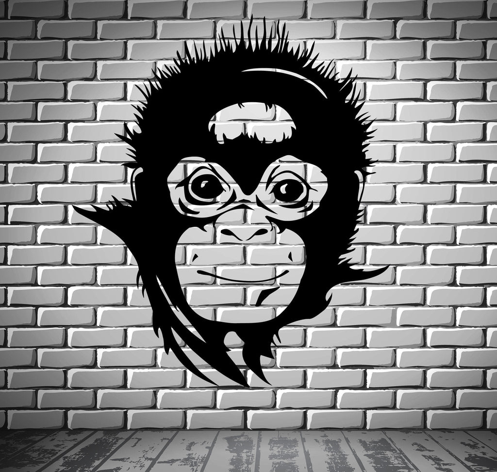 Monkey Wall Stickers Nursery Animals Baby Room Vinyl Decal Unique Gift (ig911)