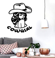 Wall Stickers Vinyl Decal Vintage Cowgirl Hot Sexy ig973
