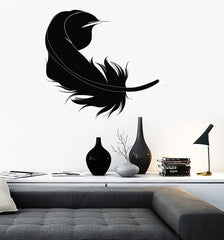 Wall Sticker Vinyl Decal Feather Bird Beautiful Living Room Decor (ig999)