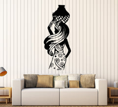 Vinyl Wall Decal African Woman Black Lady Africa Ethnic Style Stickers Unique Gift (1056ig)