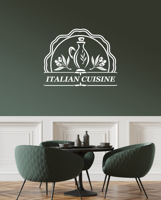 1 Vinyl Wall Decal Italian Cuisine Food Italia Restaurant Kitchen