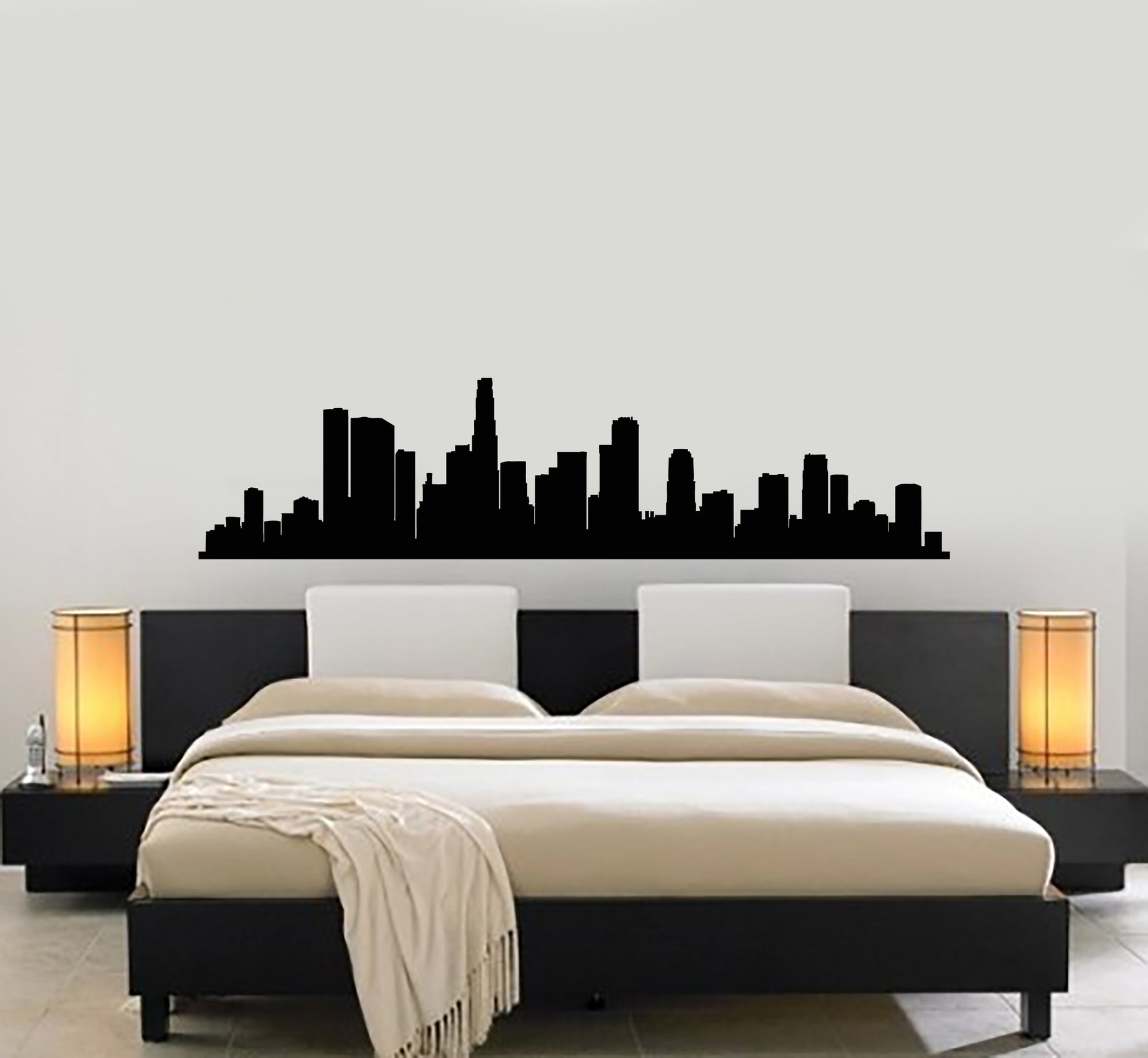 Vinyl Wall Decal Skyscraper Skyline City Silhouette Room Decoration St Wallstickers4you