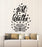 Vinyl Wall Decal Just Breathe Yoga Bedroom Art Inspiring Phrase Flower Stickers Mural (g2649)