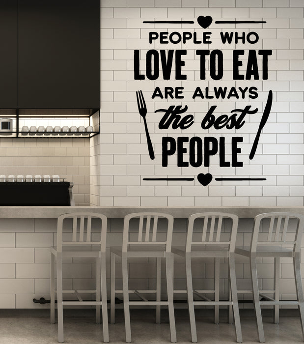 Vinyl Wall Decal Kitchen Cafe Shop Dining Room Restaurant Words Stickers g2900