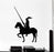 Vinyl Wall Decal Knight On Horse Armor Warrior Middle Ages Medieval Stickers Mural (g843)