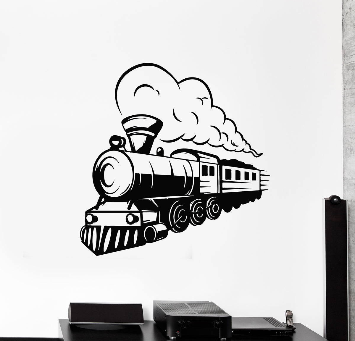 Steam Train Transport Wall Sticker WS-18693