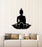 Vinyl Wall Decal Buddha Flower Lotus Pose Yoga Studio Mantra Meditation Stickers Mural (g2047)