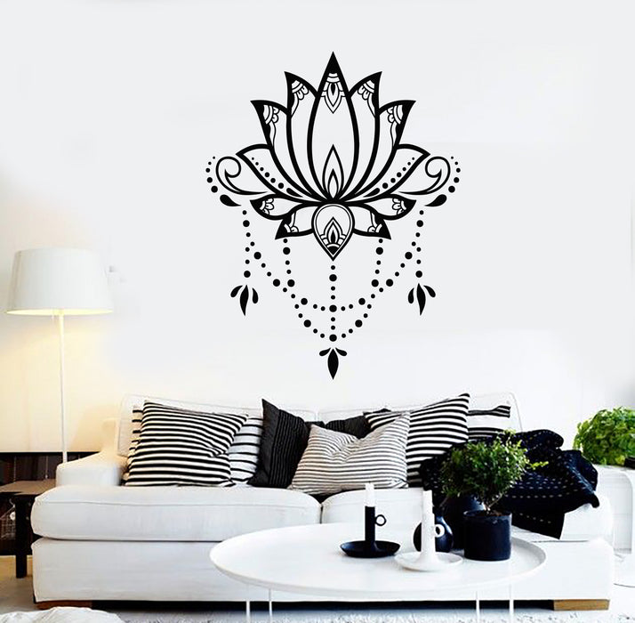 Vinyl Wall Decal Flower Lotus Nature Yoga Room Meditation Relaxation Zen Stickers Mural (g906)