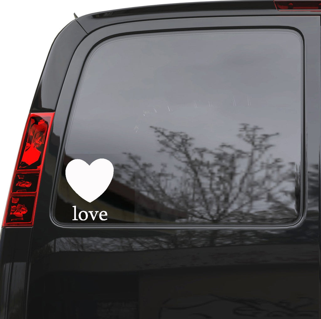 "Auto Car Sticker Decal Love Heart Word Lettering Truck Laptop Window 5"" by 6.5"" m582c Unique Gift (2)"