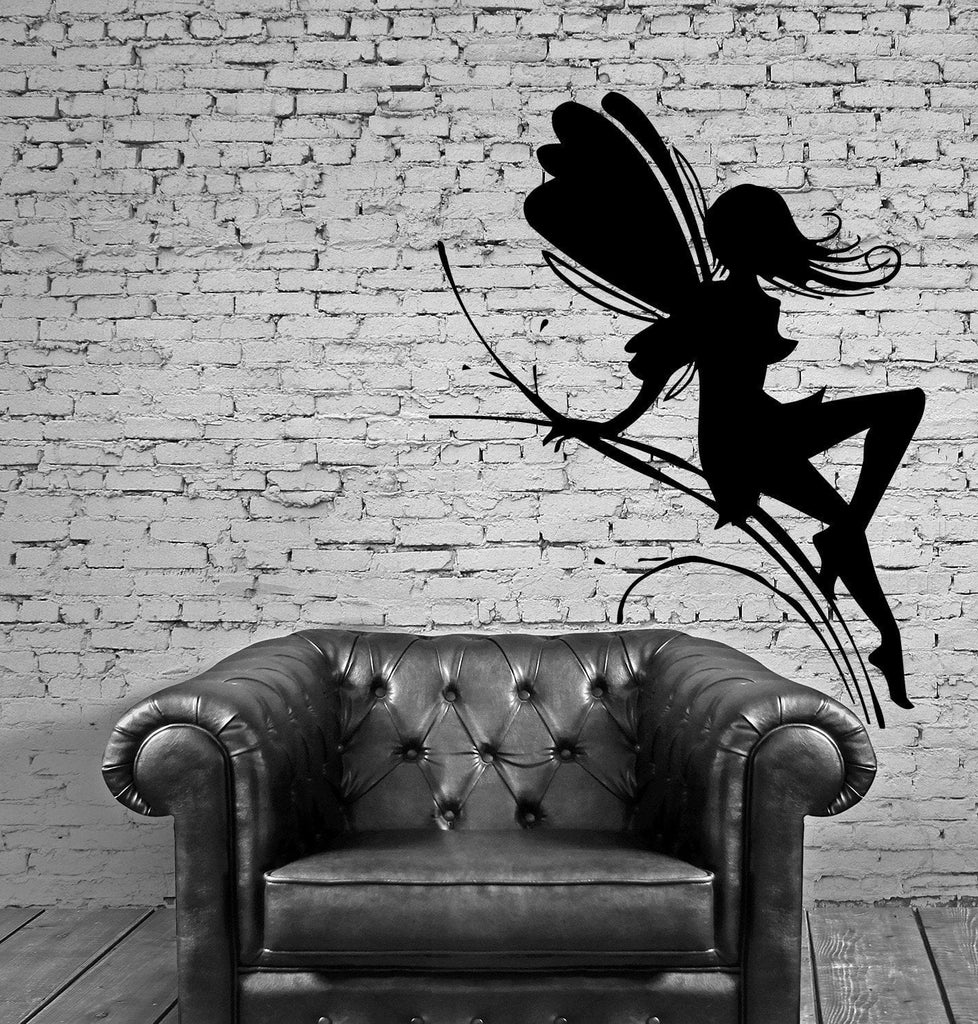 Fairy Wings Fairytales Pixie Kids Cartoon Magic Wall Sticker Vinyl Decal Unique Gift (m008)