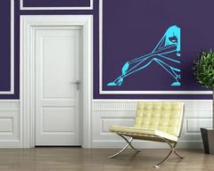 Vinyl Decal Beautiful Woman High Heel Shoes Stilettos Decor Wall Sticker Unique Gift (m009)