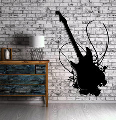 Guitar Music Rock Wall MURAL Vinyl Art Sticker Unique Gift M013