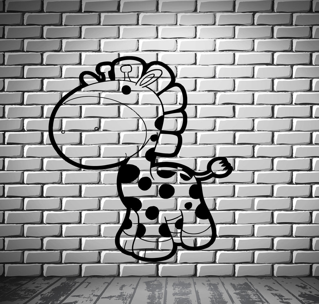 Giraffe Cartoon Wall MURAL Vinyl Art Sticker Kids Room M019