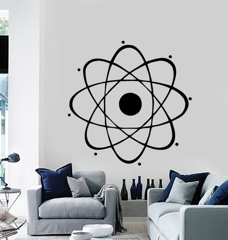 Atom Large Decal Nuclear Science Chemistry Physics Wall Vinyl Art Sticker Unique Gift (m024)