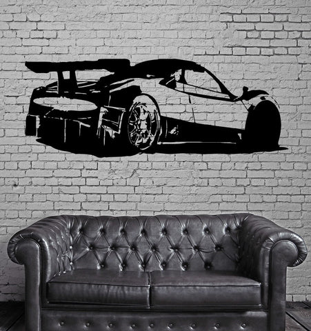 Pagani Zonda R Super Cars Wall MURAL Vinyl Art Sticker Unique Gift M033