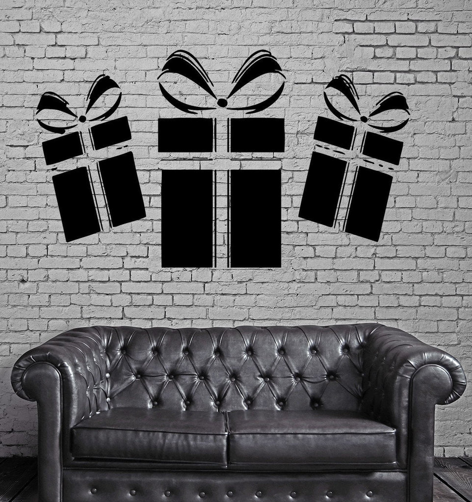 Gifts Box Holidays Decor Wall MURAL Vinyl Art Sticker Unique Gift M036