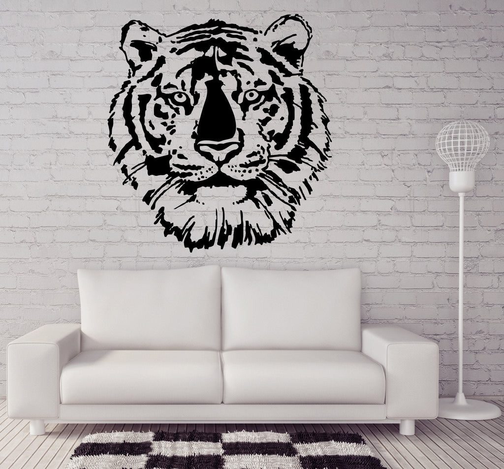 Tiger Head Wall MURAL Vinyl Art Sticker Kids Room Unique Gift M041