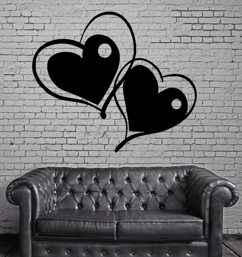 ENTWINED HEARTS LOVE ROMANCE DECOR Wall MURAL Vinyl Art Sticker M191