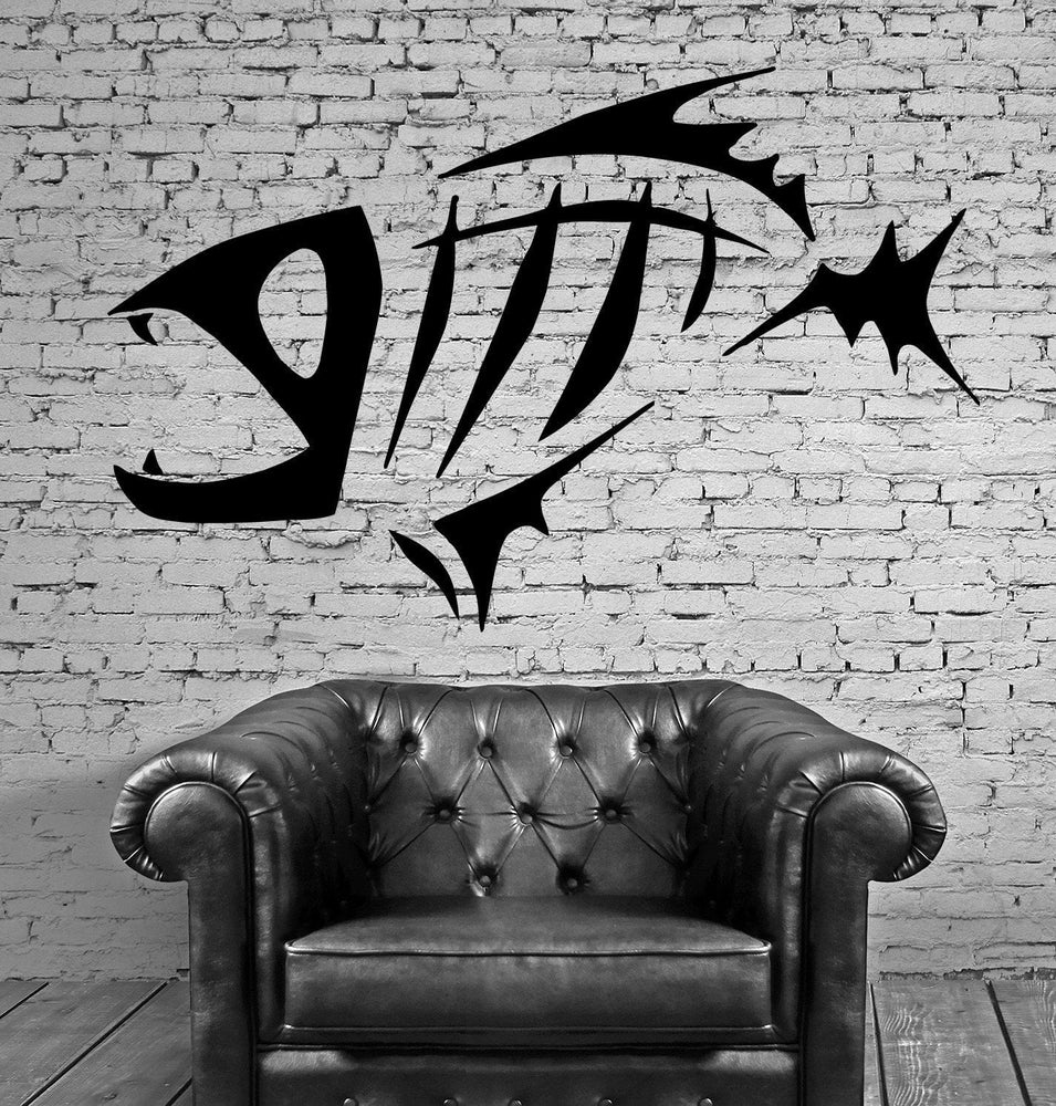 FISH SKELETON OCEAN SEA MARINE DECOR Wall MURAL Vinyl Art Sticker Unique Gift M197