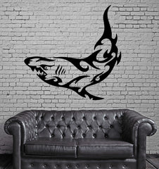 SHARK OCEAN SEA MARINE TRIBAL DECOR Wall MURAL Vinyl Art Sticker Unique Gift M212