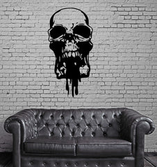 SKULL HUMAN SKELETON Wall MURAL Vinyl Art Sticker Unique Gift M226