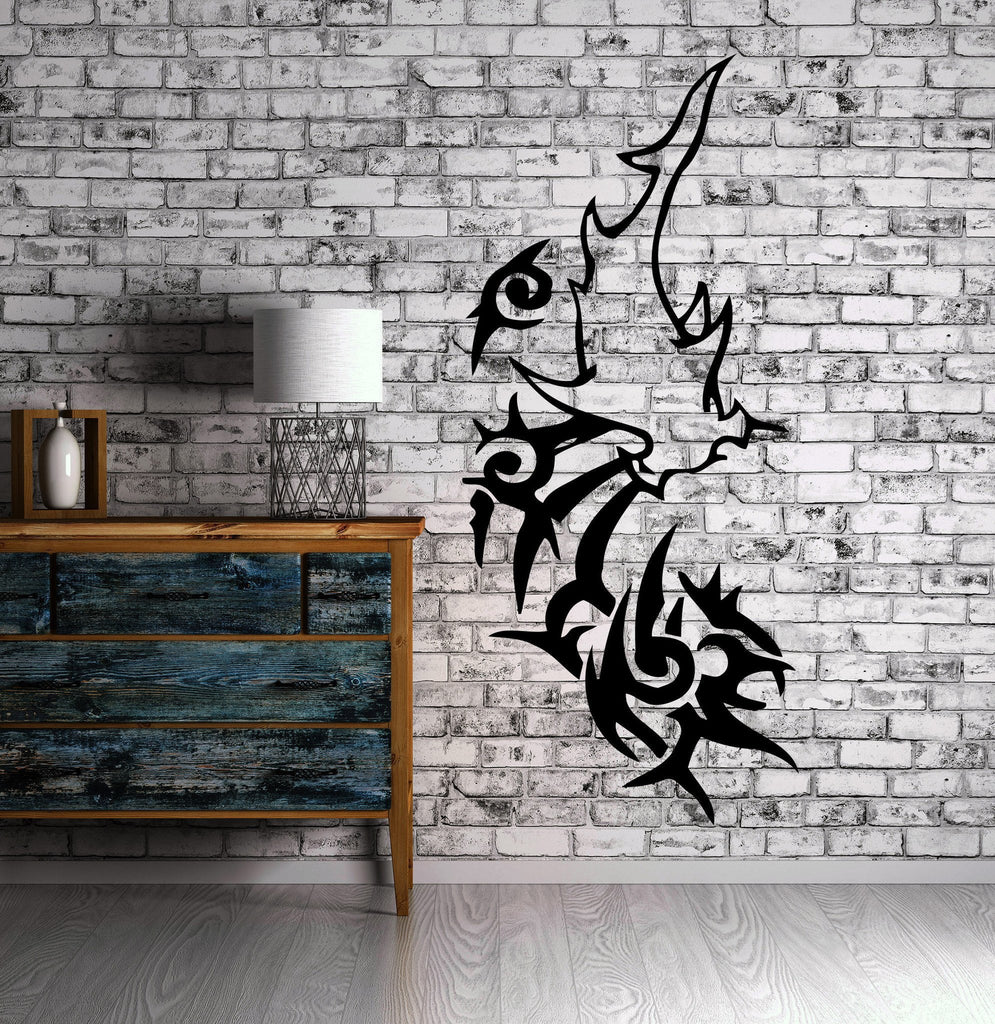 HAMMERHEAD SHARK HUNTING MARINE DECOR Wall MURAL Vinyl Art Sticker M268