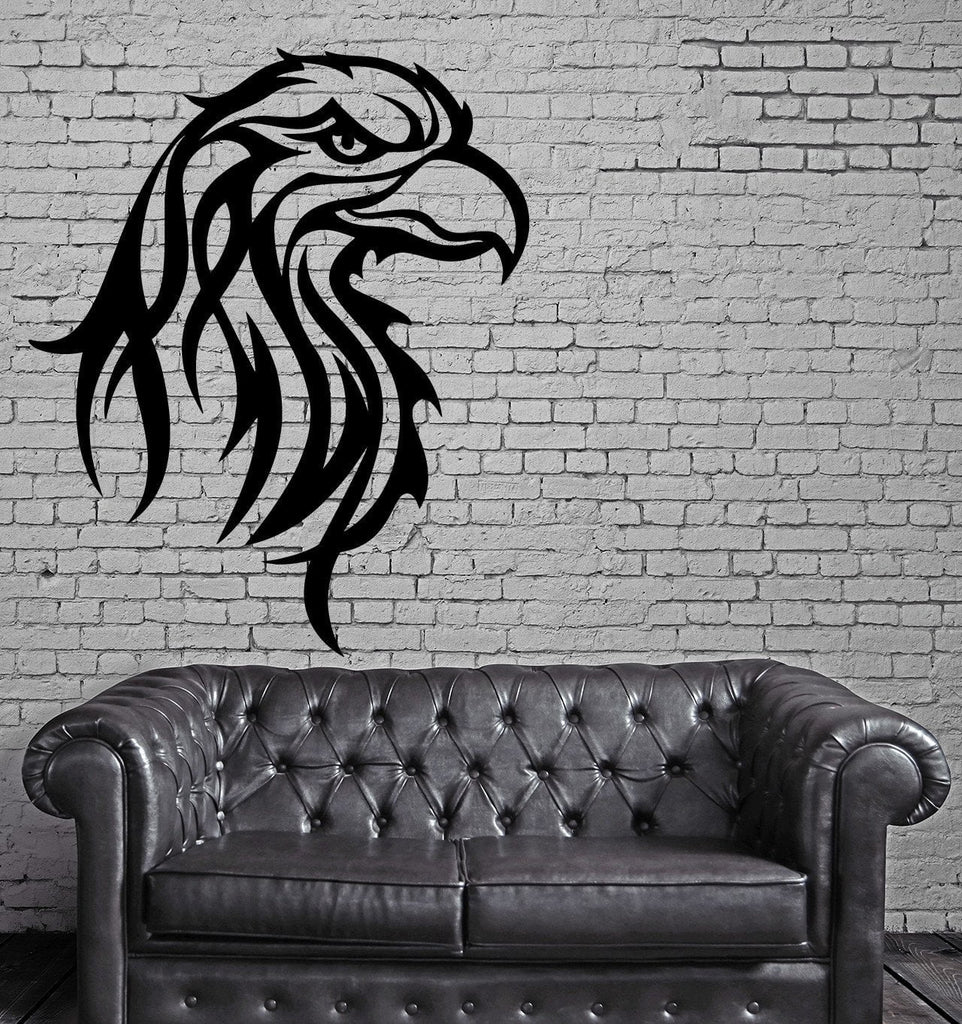 EAGLE HEAD BIRD TRIBAL ART DECOR Wall MURAL Vinyl Art Sticker M293