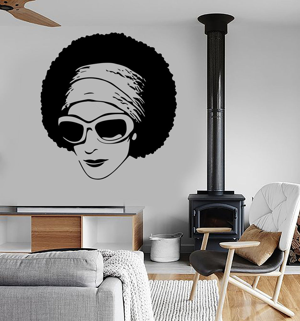 Vinyl decal african beauty sexy black girl sunglasses decor modern vinyl decal african beauty sexy black girl sunglasses decor modern wall art mural living room sticker amipublicfo Gallery