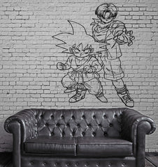 Cartoon Dragonball Z Action Manga Anime Wall MURAL Vinyl Art Sticker Decal Unique Gift M304