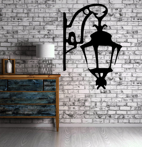 Vinyl Decal Wall Sticker Antique Lantern Street Lamp Symbol of Light Modern Home Decor (M311)