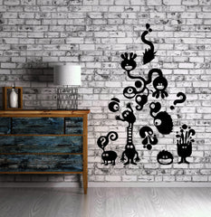 Little Monsters Children Questions Kids Room Wall Mural Vinyl Art Sticker Unique Gift M319