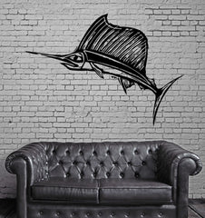 Sword Fish Marine Fishing and Hunting Decor Wall Mural Vinyl Art Sticker Unique Gift M327
