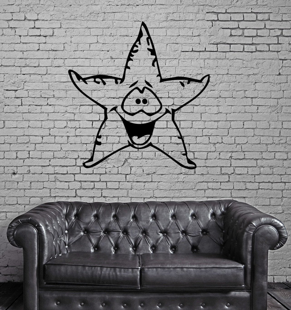 Funny sea star marine decor kids room nursery wall mural vinyl art funny sea star marine decor kids room nursery wall mural vinyl art sticker unique gift m341 amipublicfo Image collections
