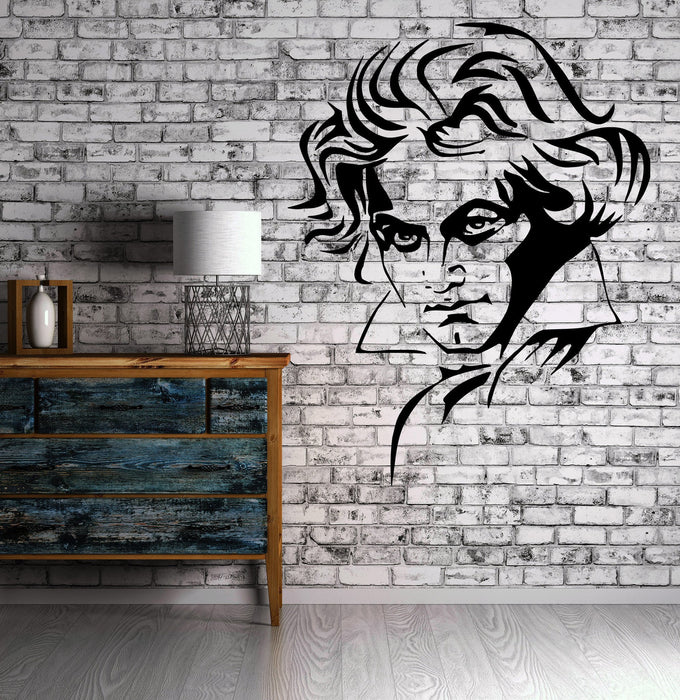 Ludwig van Beethoven Classic Music Decor Wall MURAL Vinyl Art Sticker Unique Gift M347