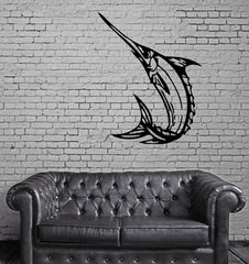 Marlin Fish Fishing Hobby Marine Animal Decor Wall MURAL Vinyl Art Sticker Unique Gift M353