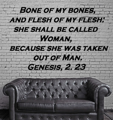 bible quote creation of woman religious decor wall mural vinyl art sticker unique gift m357
