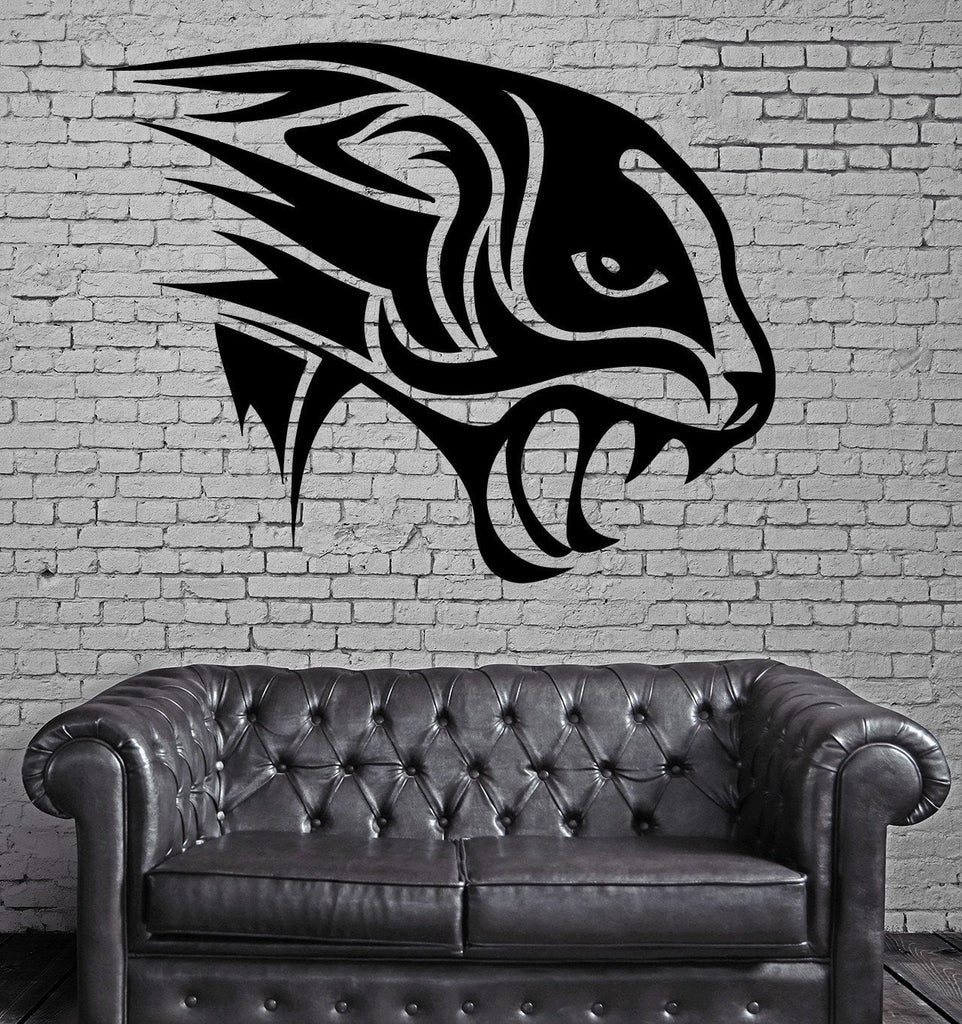 Panther Head Roar Jungle Hunter Animal Decor Wall Mural Vinyl Art Sticker Unique Gift M364