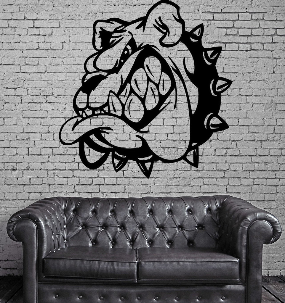 Cartoon Angry Bulldog Kids Room Animal Decor Wall Mural Vinyl Art Sticker M369