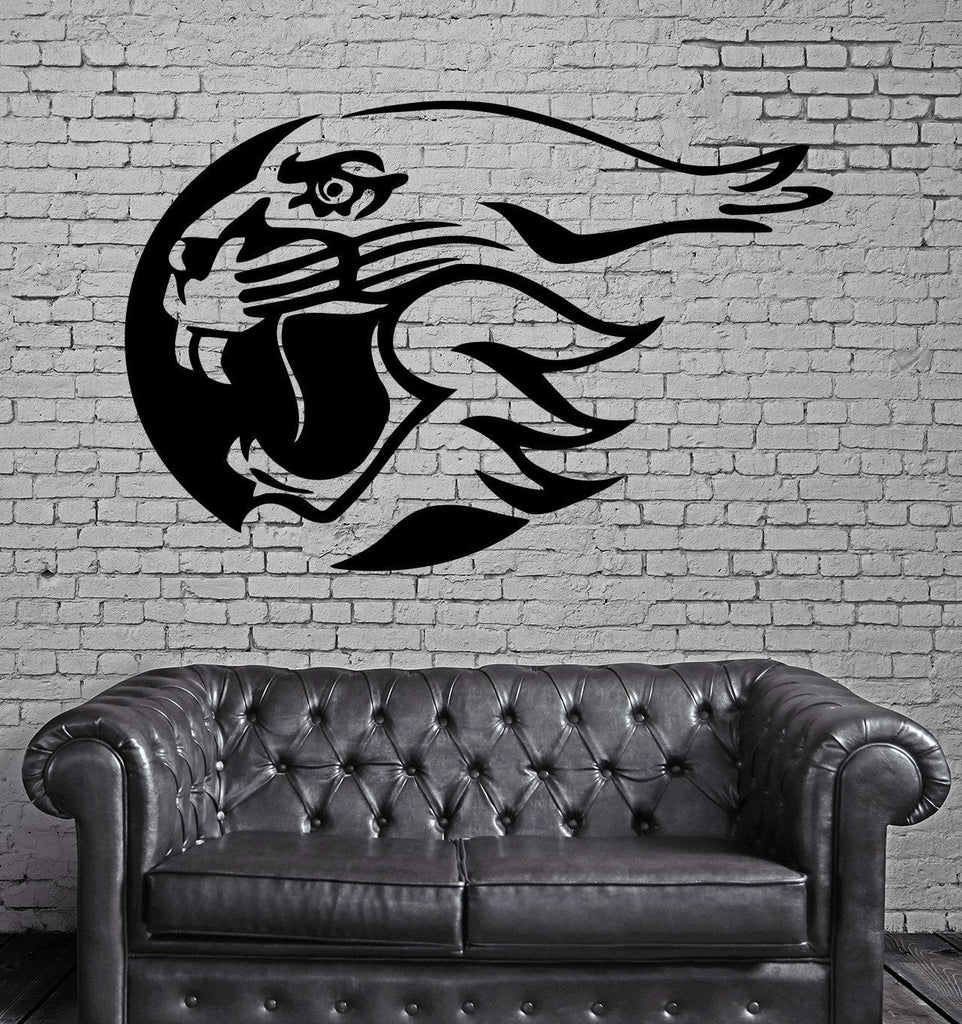 Tiger Head in Circle Roar Tribal Animal Decor Wall Mural Vinyl Art Sticker Unique Gift M371