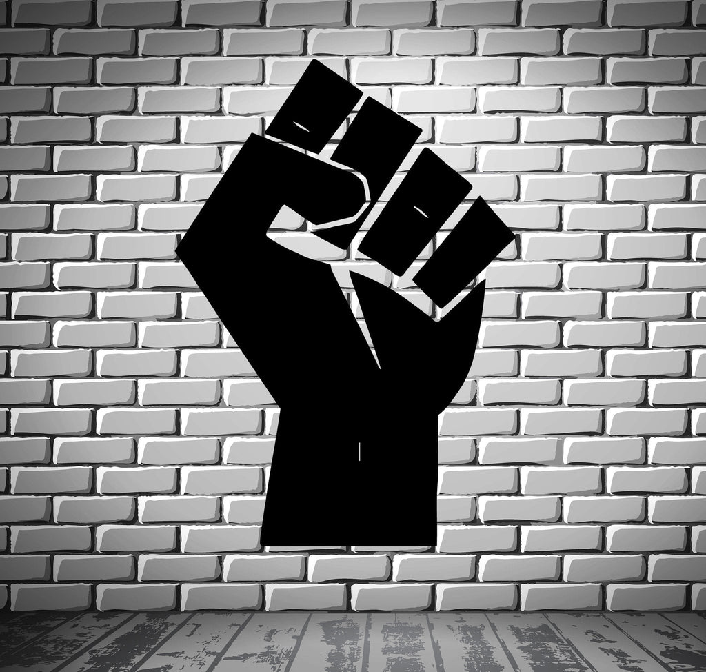 Man's Hand Fist Politics Entertainment Decor Wall Mural Vinyl Art Sticker Unique Gift M376