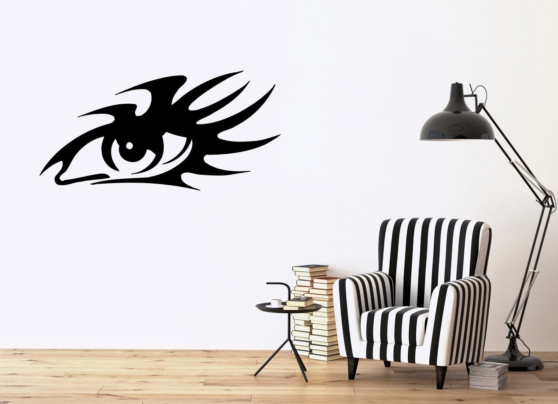 Tribal Eye with Big Eye Lashes Fashion Decor Wall Mural Vinyl Art Sticker Unique Gift M400