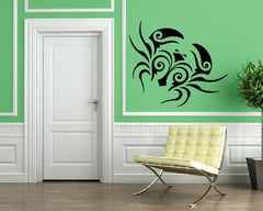 Tribal Crab Claws Marine Animal Ocean Decor Wall MURAL Vinyl Art Sticker Unique Gift M404