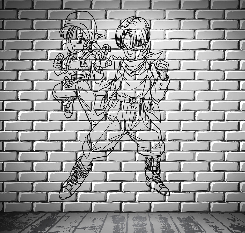 Dragon Ball Z Cartoon Anime Manga Kids Decor Wall Mural Vinyl Decal Sticker M412
