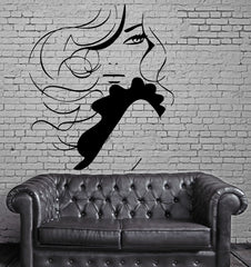 Beautiful Sexy Woman Long Wavy Hair Decor Wall Mural Vinyl Decal Sticker M419