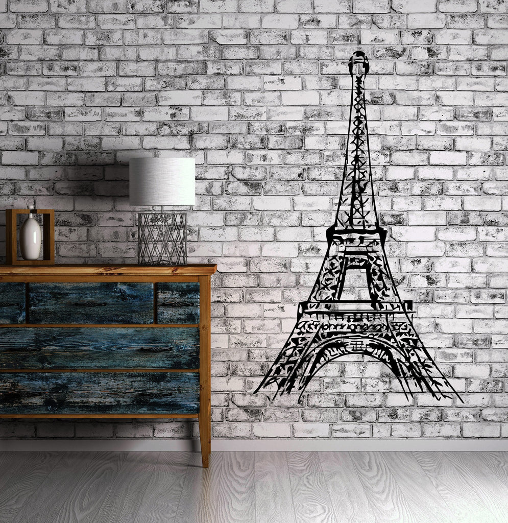 Eiffel Tower Paris Romance French Love Decor Wall Mural Vinyl Decal Sticker Unique Gift M420