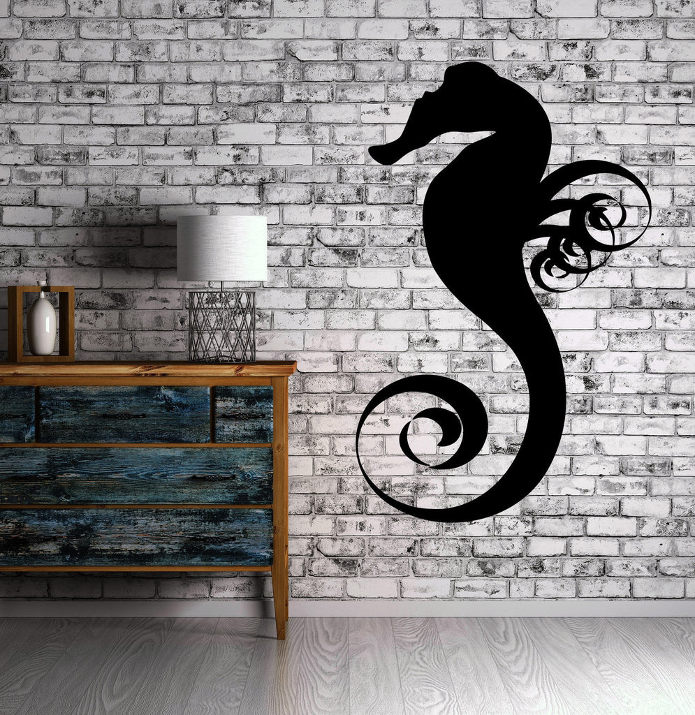 Sea Horse Ocean Marine Animal Art Decor Wall Mural Vinyl Decal Sticker Unique Gift M428