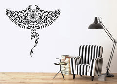 Tribal Manta Ray Ocean Marine Sea Decor Wall Mural Vinyl Decal Art Sticker Unique Gift M442