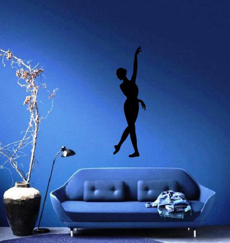 Ballerina Large Decal Silhouette Ballet Dance Studio Decor Wall Mural Vinyl Sticker (m451)