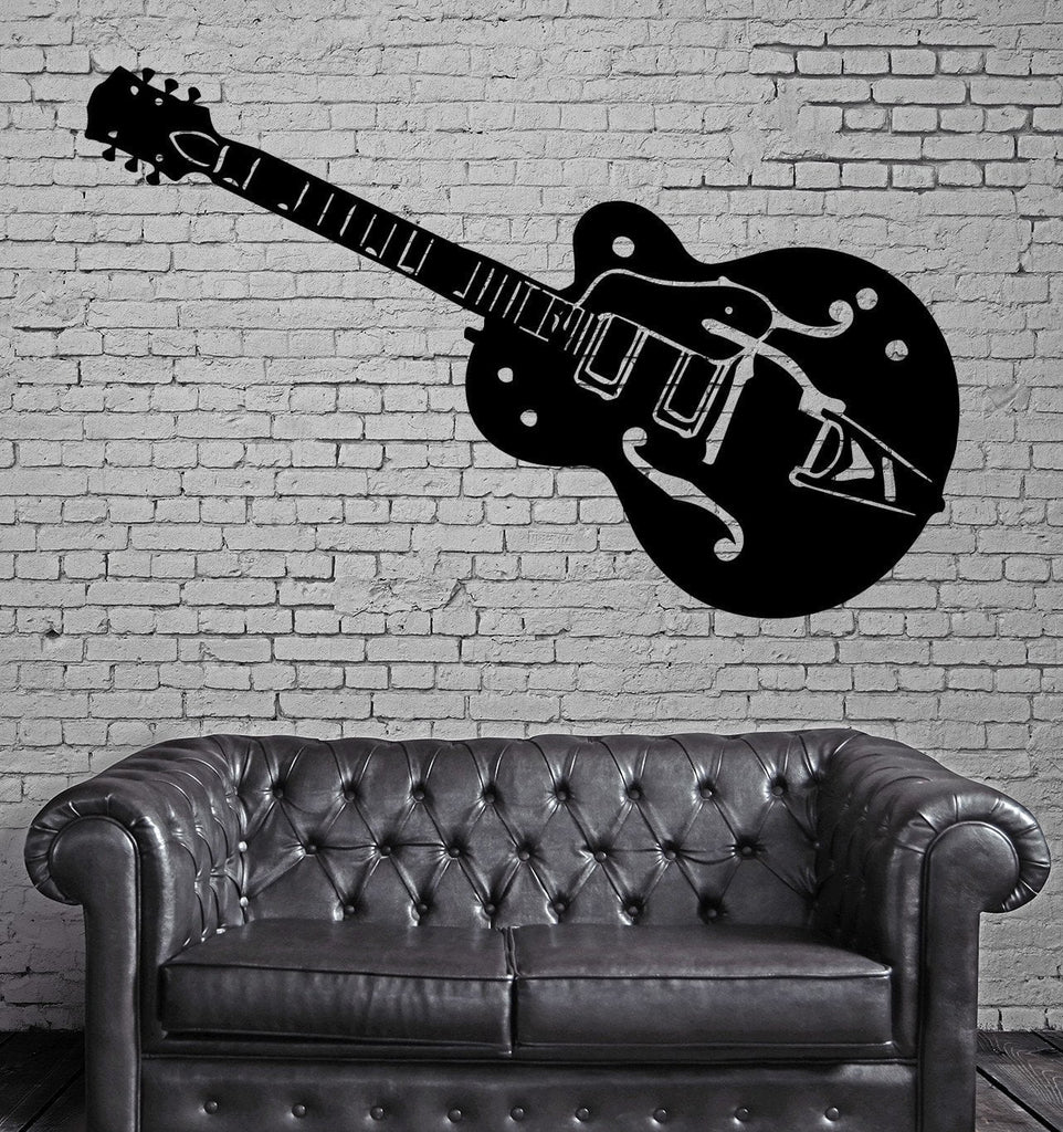 Electric Guitar Music Rock Pop Decor Wall Art Mural Vinyl Decal Sticker M456