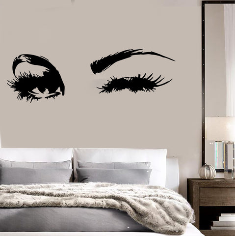 Girly beauty hair salon wall vinyl decal wallstickers4you for Spa wall decor